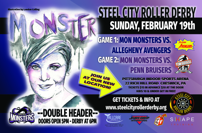 February 2017 bout flyer